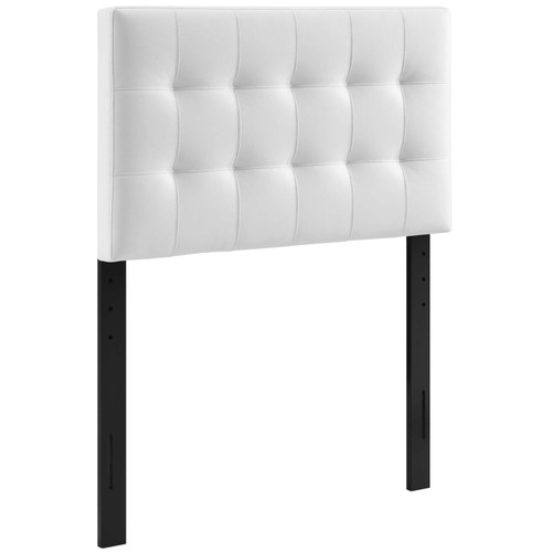 Lily Twin Upholstered Vinyl Headboard White MOD-5149-WHI