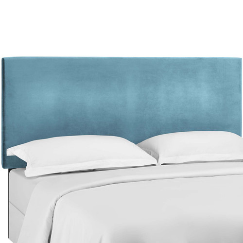 Taylor King and California King Upholstered Performance Velvet Headboard Sea Blue MOD-5884-SEA