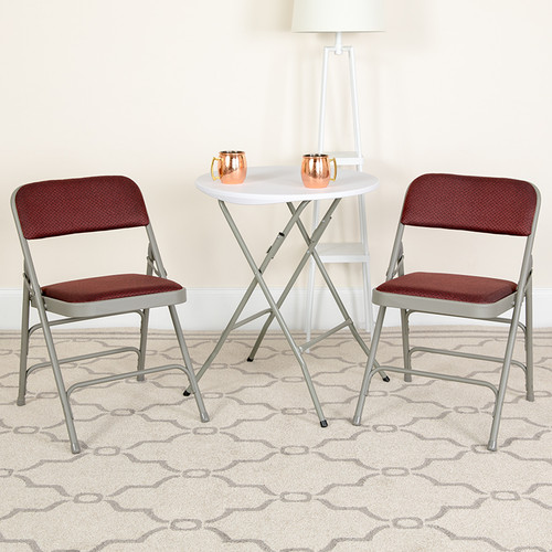 Set of 2: Padded Metal Folding Chair