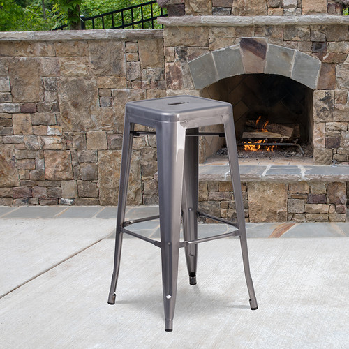 Stackable Industrial Style Modern Bar Stool