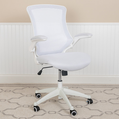 Contemporary Task Office Chair with Flip-Up Arms