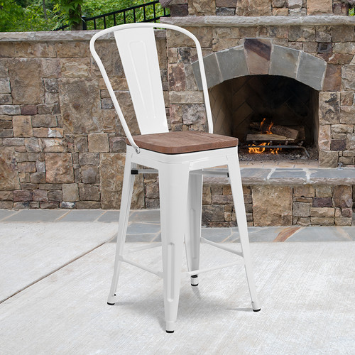 Modern Bistro Bar Stool for Commercial or Residential Use