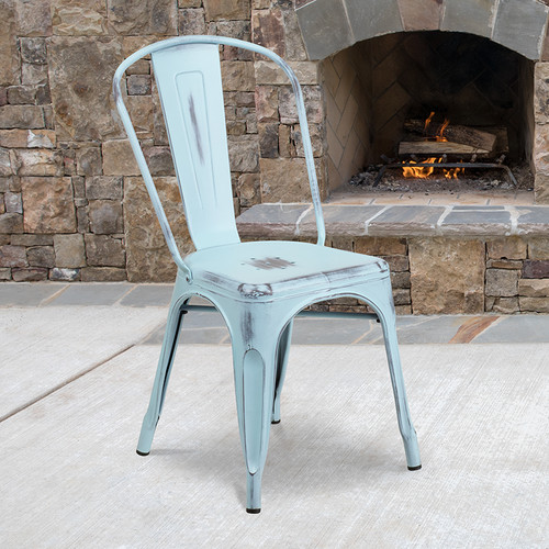 Stackable Metal Bistro Style Chair