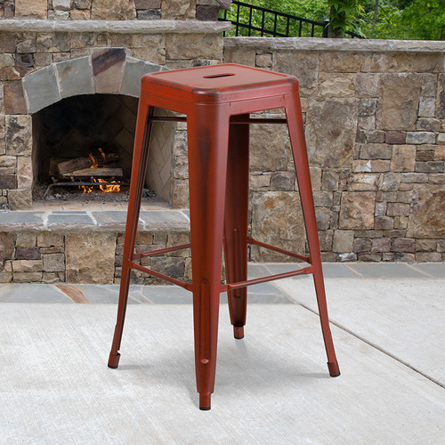 Industrial Dining Bar Stool for Indoor or Outdoor Use