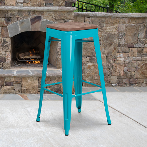 Stackable Industrial Style Modern Stool