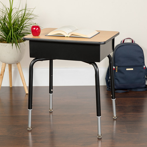 Student Desk with Open Book Box for Elementary - High School Grade Students
