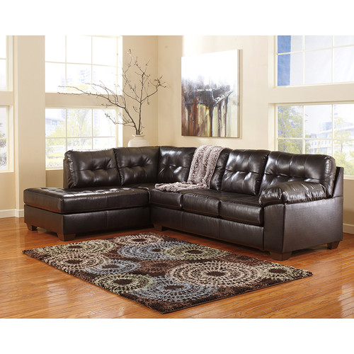 Contemporary Style L-Shaped 2 Piece Sectional