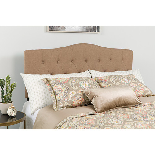 Contemporary Style Panel Headboard