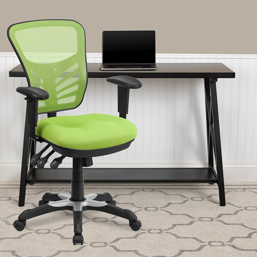 Contemporary Executive Office Chair with Height Adjustable Padded Arms