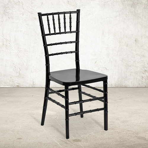 Black Resin Chiavari Chair for Indoor or Outdoor Events