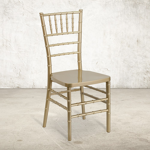 Gold Resin Chiavari Chair for Indoor or Outdoor Events