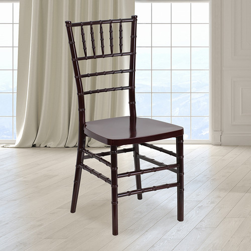 Mahogany Resin Chiavari Chair for Indoor or Outdoor Events