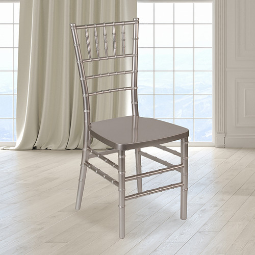 Pewter Resin Chiavari Chair for Indoor or Outdoor Events