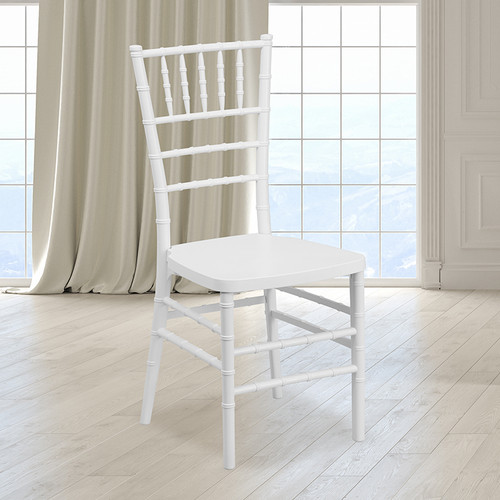 White Resin Chiavari Chair for Indoor or Outdoor Events