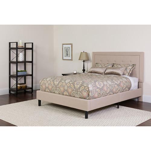 Twin Platform Bed and Mattress Set