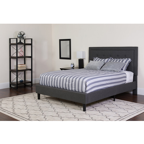 Full Size Platform Bed with Mattress Included