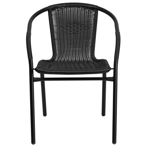 Black Rattan Stack Chair TLH-037-BK-GG