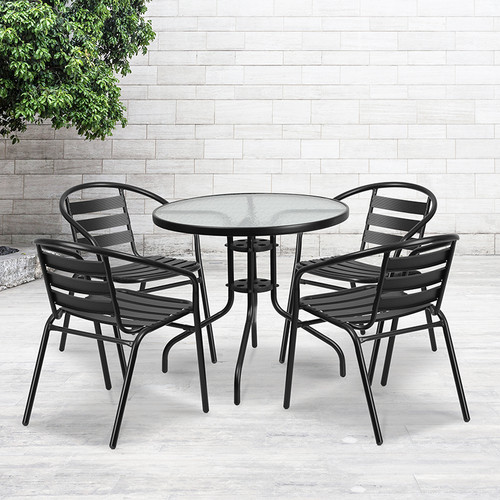 Table and Chair Set Designed for Indoor and Outdoor Use
