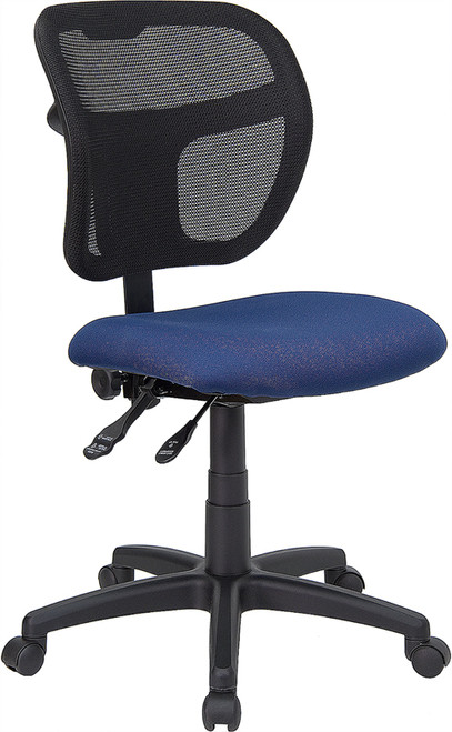 Contemporary Task Office Chair with Curved Ventilated Mesh Back