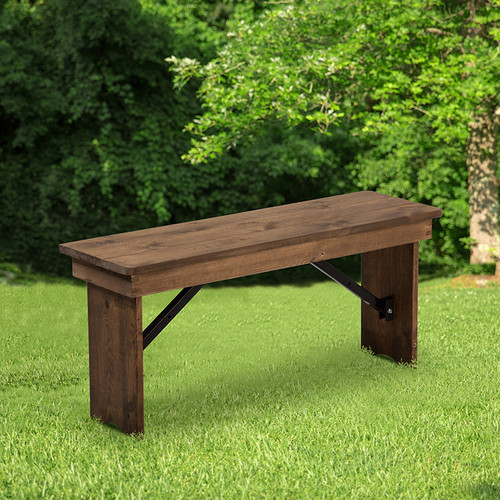 Rustic Style Farmhouse Bench