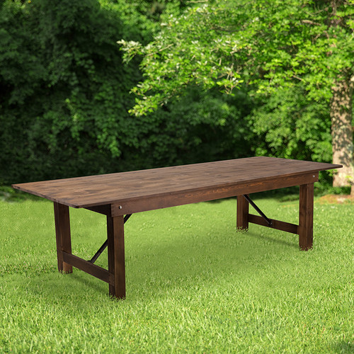 Farmhouse Dining Table in Antique Rustic Stain Finish