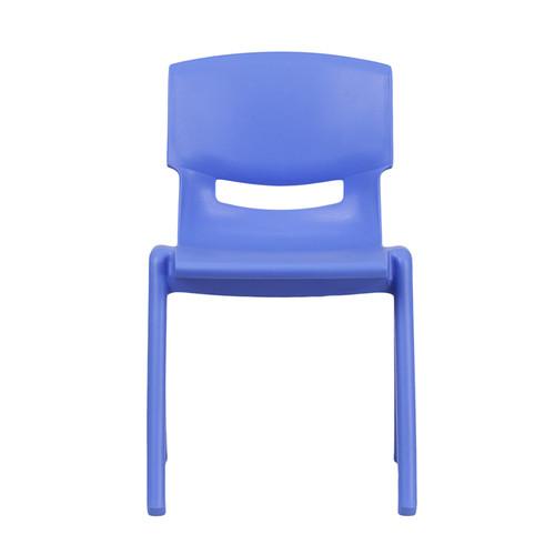 Blue Plastic Stack Chair YU-YCX-004-BLUE-GG