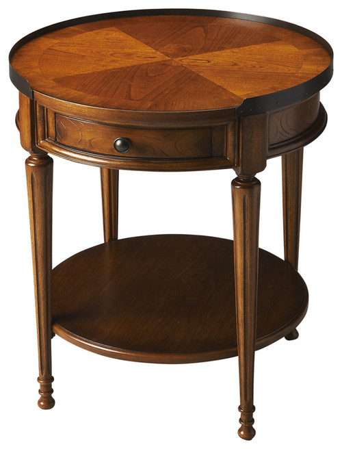 Butler Sampson Olive Ash Burl Accent Table