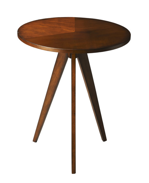 Butler Compass Antique Cherry Accent Table