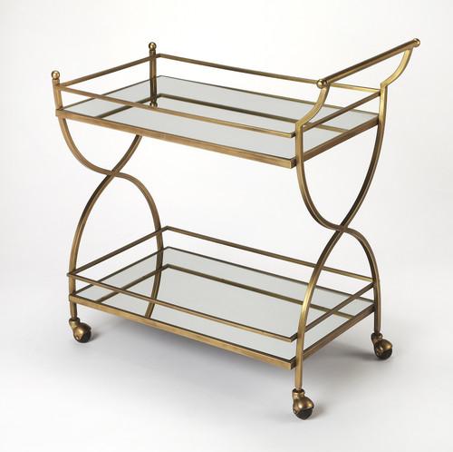 Butler Graci Antique Gold Bar Cart