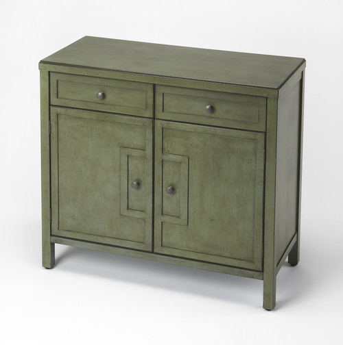 Butler Imperial Green Console Cabinet
