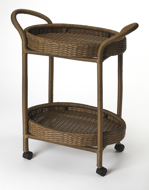 Butler Pevita Rattan Serving Cart
