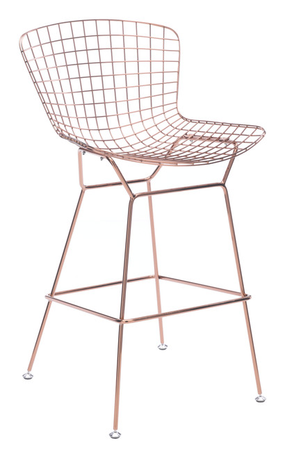 Wire Bar Chair Rose Gold Set of Two