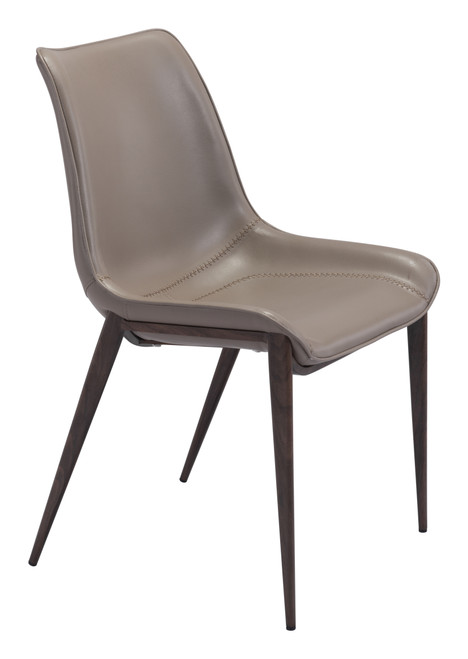 Magnus Dining Chair Gray & Walnut Set of Two