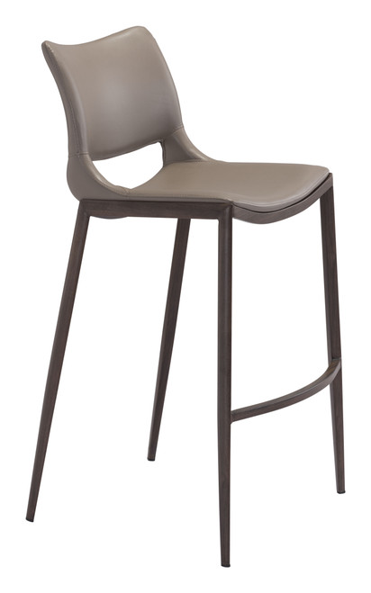 Ace Bar Chair Gray & Walnut Set of Two