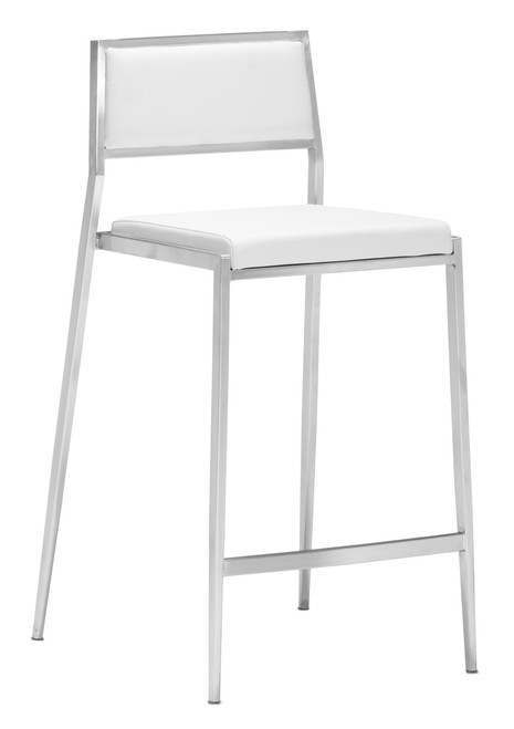 Dolemite Counter Chair White Set of Two