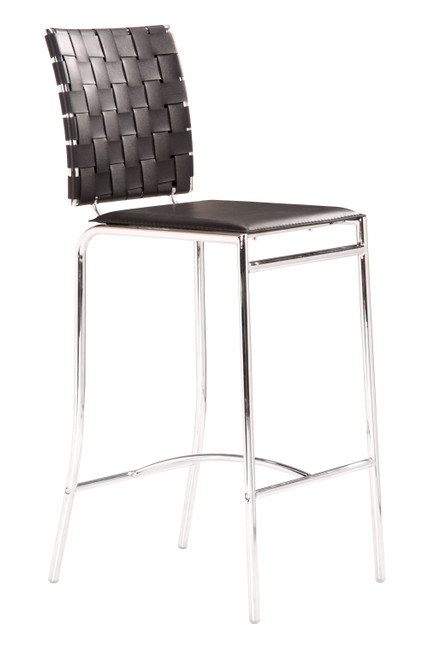 Criss Cross Counter Chair Black Set of Two