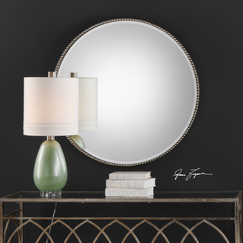 Uttermost Stefania Beaded Round Mirror