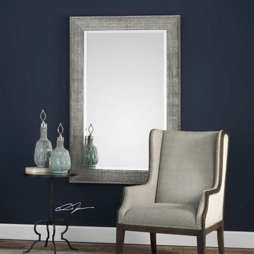 Uttermost Leiston Metallic Silver Mirror