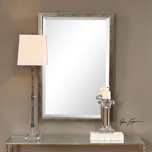 Uttermost Aburay Tarnished Silver Mirror