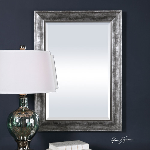 Uttermost Affton Burnished Silver Mirror