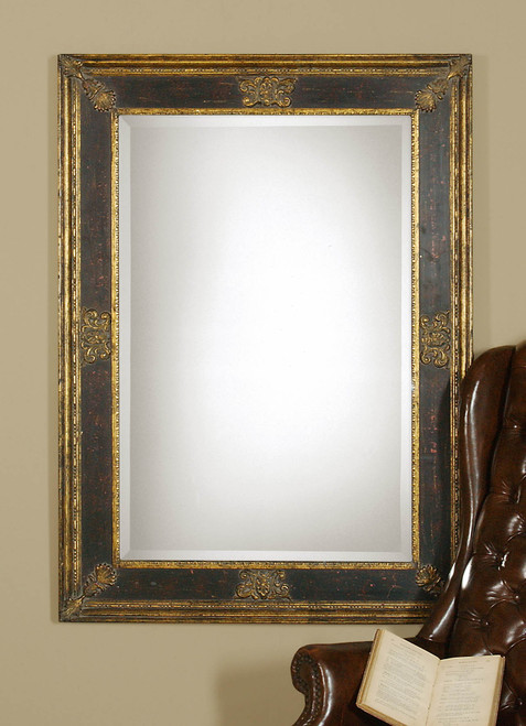 Uttermost Cadence Small Antique Gold Mirror
