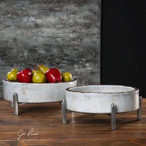 Uttermost Essie Pale Gray Bowls S/2