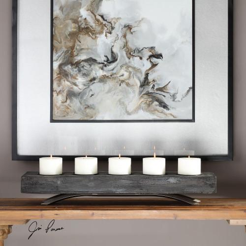 Uttermost Callum Wooden Candleholder