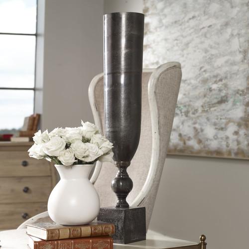 Uttermost Kaylie Black Nickel Vase