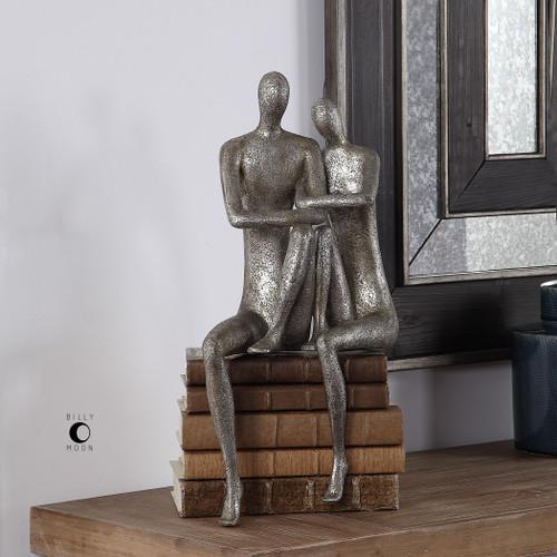 Uttermost Courtship Antique Nickel Figurine