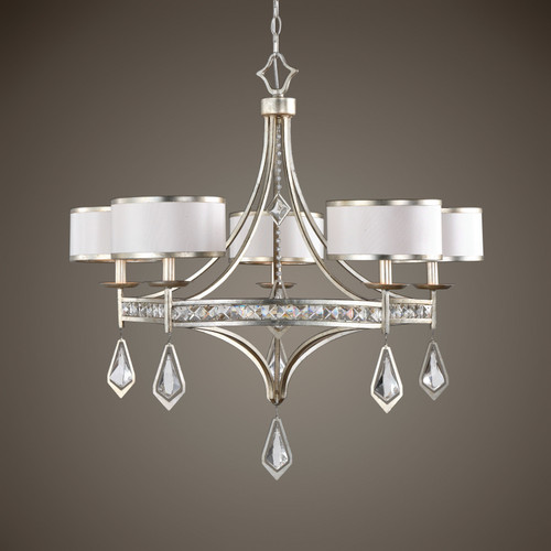 Uttermost Tamworth 5 Light Silver Champagne Chandelier