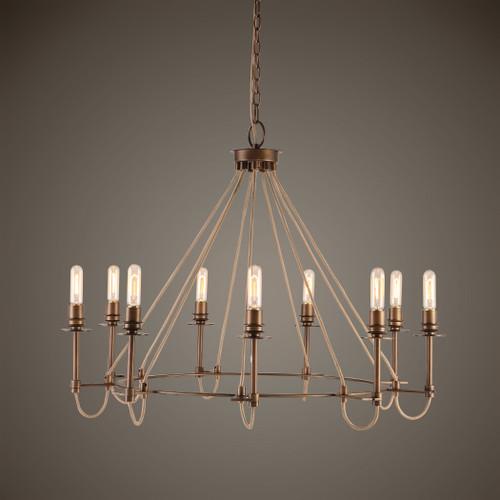 Uttermost Lyndhurst Industrial 9 Light Chandelier