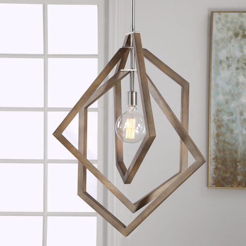 Uttermost Elroy 1 Light Modern Pendant