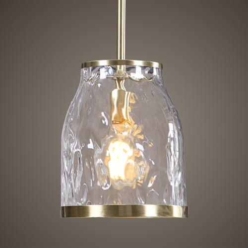 Uttermost Crossley 1 Light Glass Mini Pendant