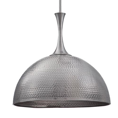 Uttermost Raynott Nickel 1 Light Dome Pendant